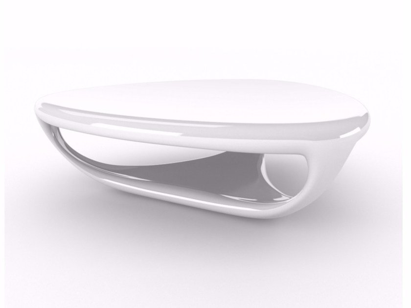 Adamantx® coffee table for living room with integrated magazine rack GENESI - ZAD ITALY