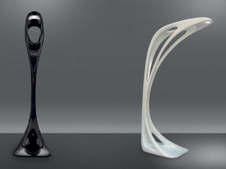 Floor lamp genesy by artemide italia design zaha hadid for Zaha hadid lamp