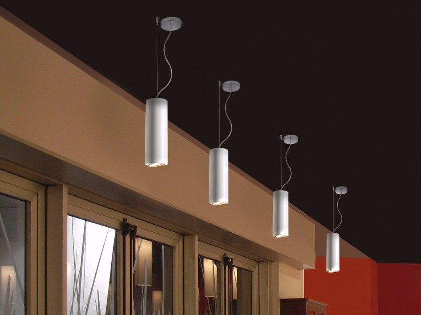 LED direct light adjustable aluminium pendant lamp GENIUS | Pendant lamp by GLIP by S.I.L.E