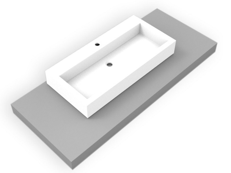 Countertop rectangular Corian® washbasin GEOMETRIC SGE | Countertop washbasin - AMA Design