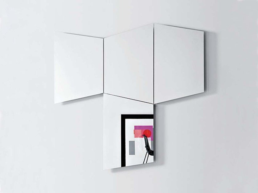 Contemporary style wall-mounted mirror GEOMETRICA TRAPEZOIDALE - PIANCA