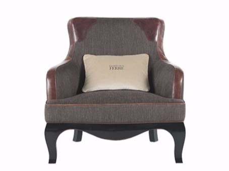 Upholstered fabric armchair with armrests GEORGE - Gianfranco Ferré Home