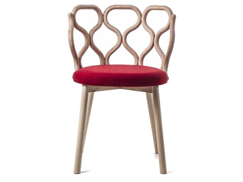 Open back wooden chair GERLA - Very Wood