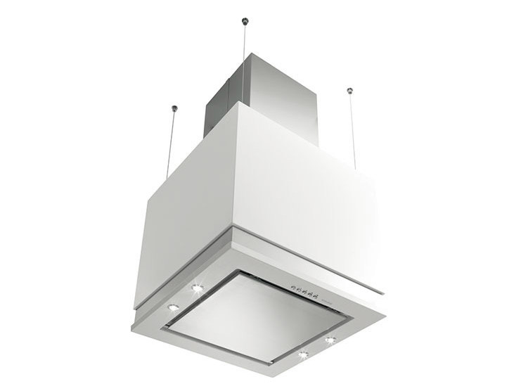 Ceiling-mounted cooker hood with integrated lighting GHIK58WH | Cooker hood by Glem Gas
