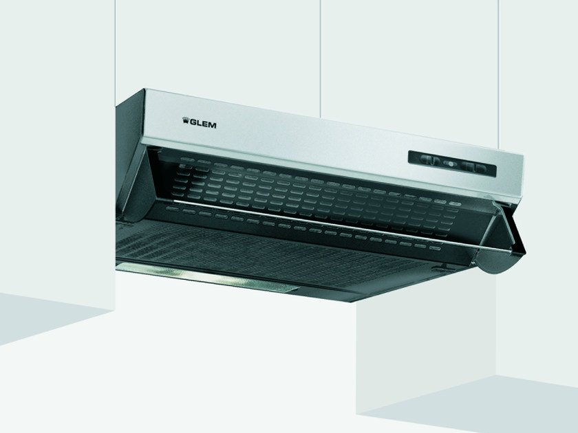 Wall-mounted cooker hood with integrated lighting GHL90IX | Cooker hood - Glem Gas