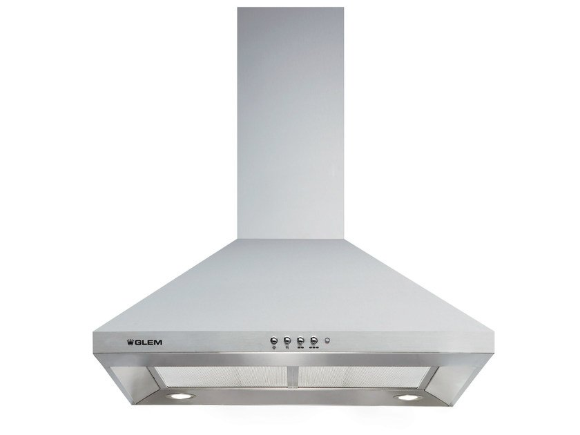 Wall-mounted cooker hood with integrated lighting GHP64IX | Cooker hood by Glem Gas