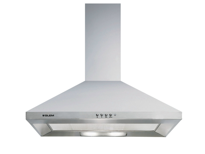Wall-mounted cooker hood with integrated lighting GHP74IX | Cooker hood by Glem Gas