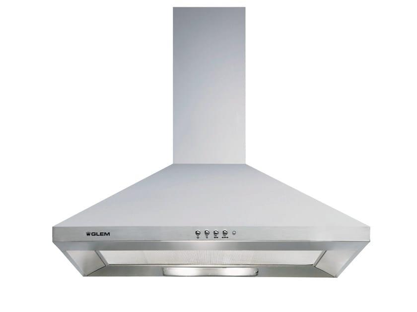 Wall-mounted cooker hood with integrated lighting GHP74IX | Cooker hood - Glem Gas