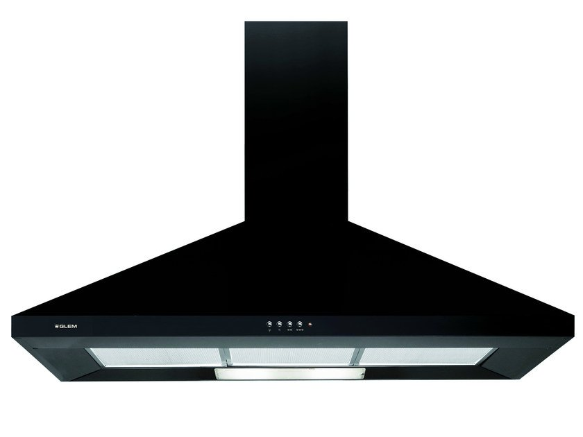 Wall-mounted cooker hood with integrated lighting GHP94BK | Cooker hood - Glem Gas