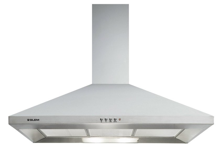 Wall-mounted cooker hood with integrated lighting GHP94IX | Cooker hood - Glem Gas