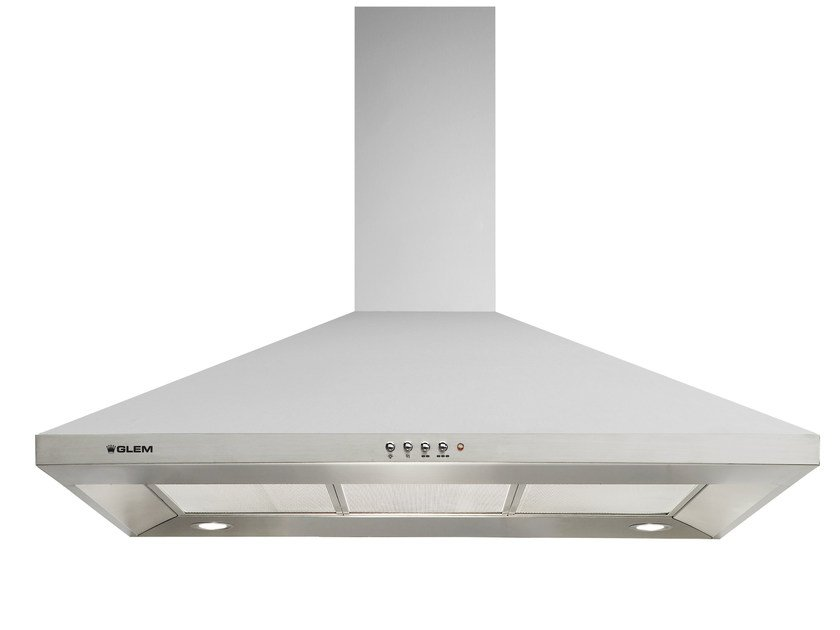 Wall-mounted cooker hood with integrated lighting GHP970IX | Cooker hood by Glem Gas