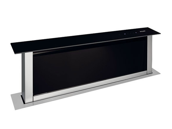 Slide-out metal downdraft GHVP98BK | Cooker hood by Glem Gas