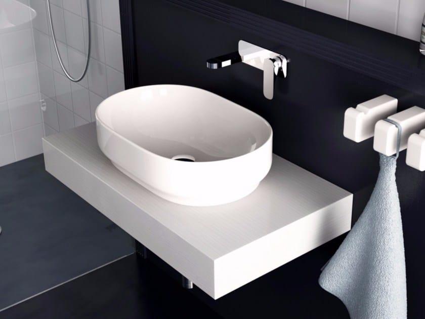 Countertop ceramic washbasin GIÒ | Oval washbasin - Hidra Ceramica