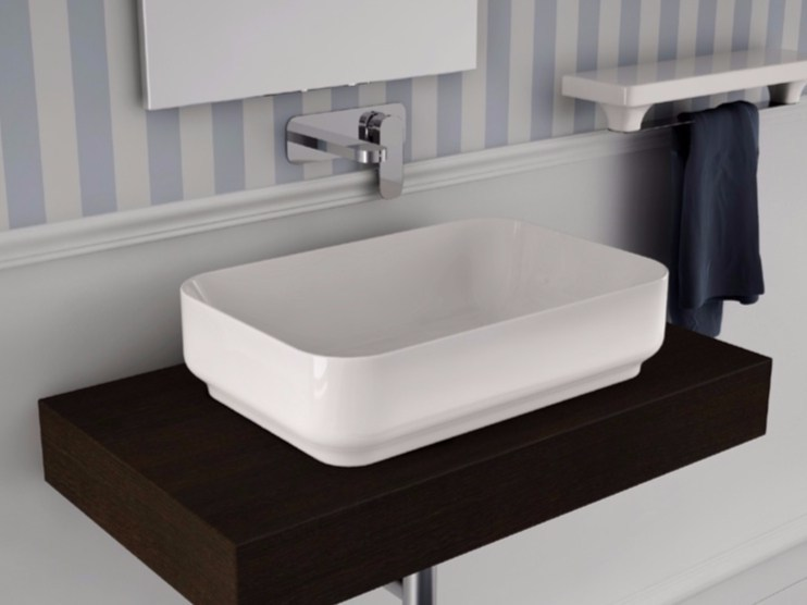 Countertop ceramic washbasin GIÒ | Rectangular washbasin - Hidra Ceramica