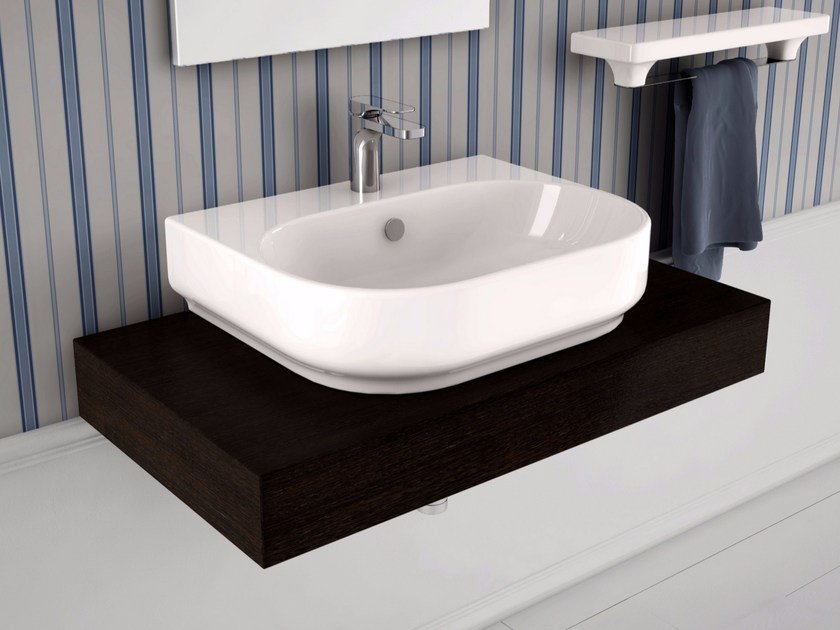 Countertop ceramic washbasin GIÒ | Single washbasin - Hidra Ceramica
