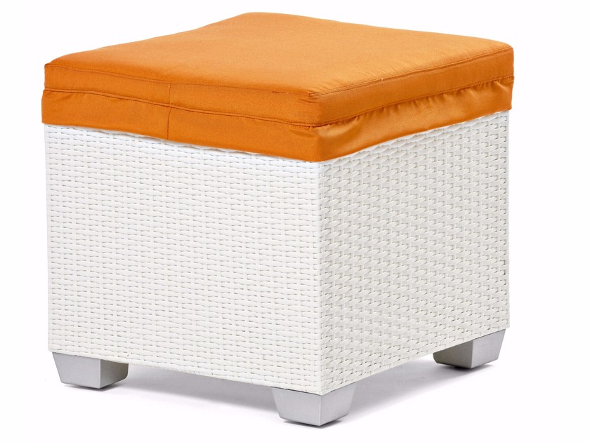 Pouf with synthetic fiber weaving GIADA | Pouf - Varaschin