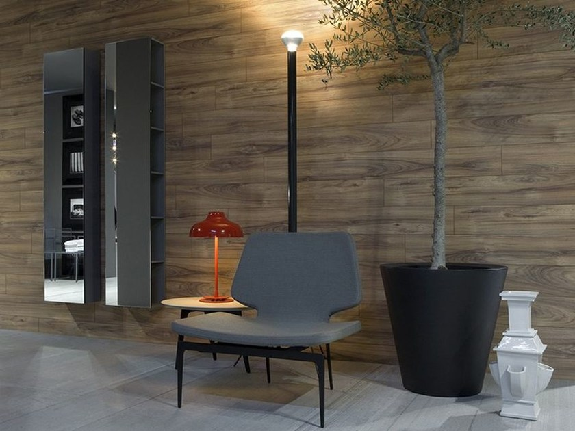 Design tall open tall wooden wall cabinet GIANO - Antonio Lupi Design®