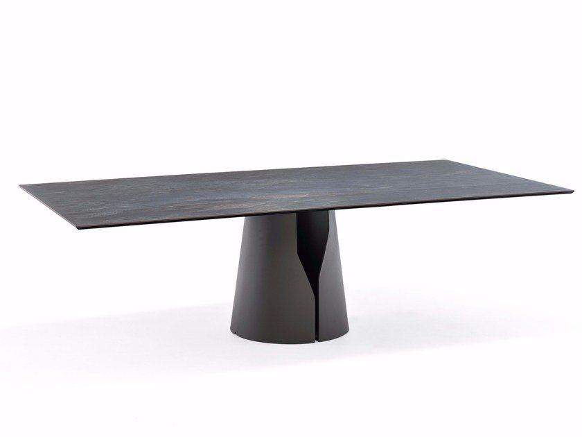 Oval ceramic table GIANO KERAMIK by Cattelan Italia