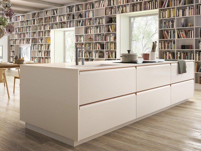 Kitchen with integrated handles GIBILTERRA | Kitchen - Del Tongo