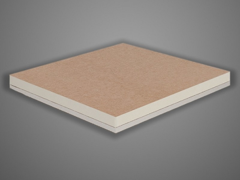 Synthetic material thermal insulation panel GIBITEC® PLUS | Polyiso foam thermal insulation panel - EDILTEC