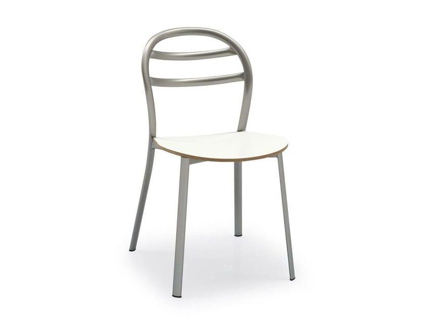 Open back metal chair GIGA - Calligaris
