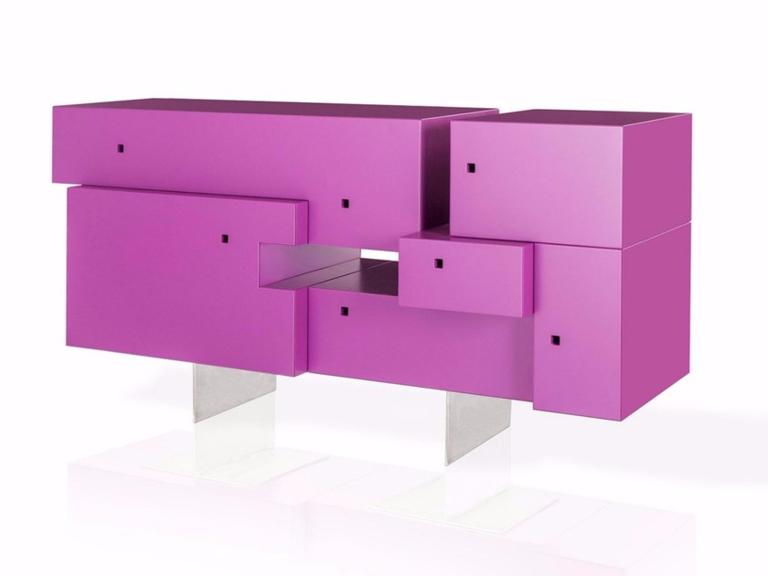 Lacquered sideboard with doors GILI - ARKOF LABODESIGN
