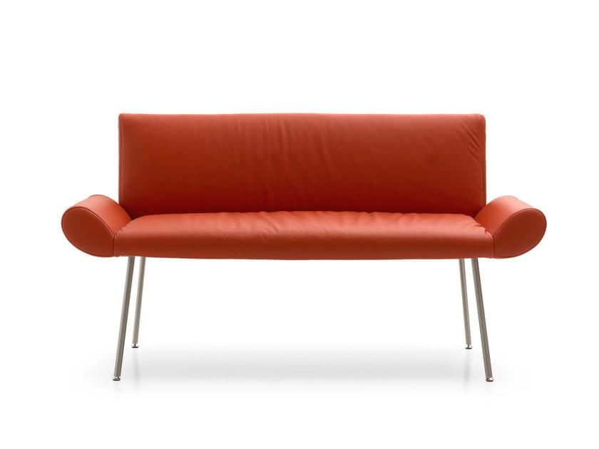 Upholstered leather leisure sofa GINEVRA | Sofa - Quinti Sedute