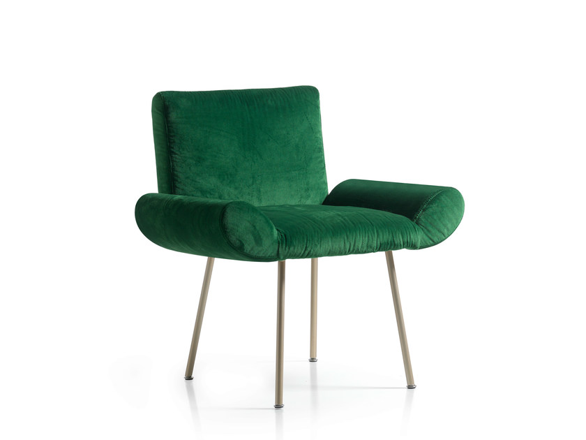 Upholstered velvet easy chair GINEVRA | Upholstered easy chair by Quinti Sedute