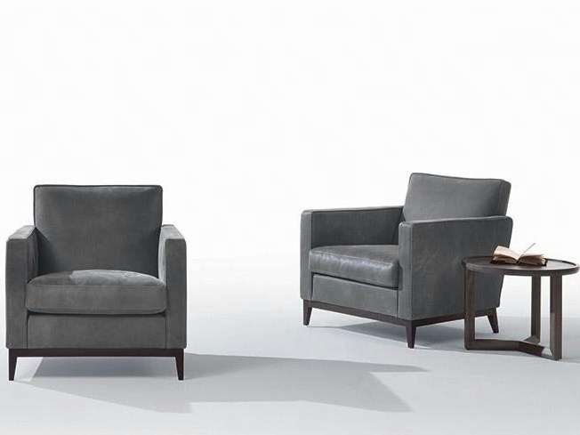 Leather armchair with armrests GINGER | Leather armchair - Marac