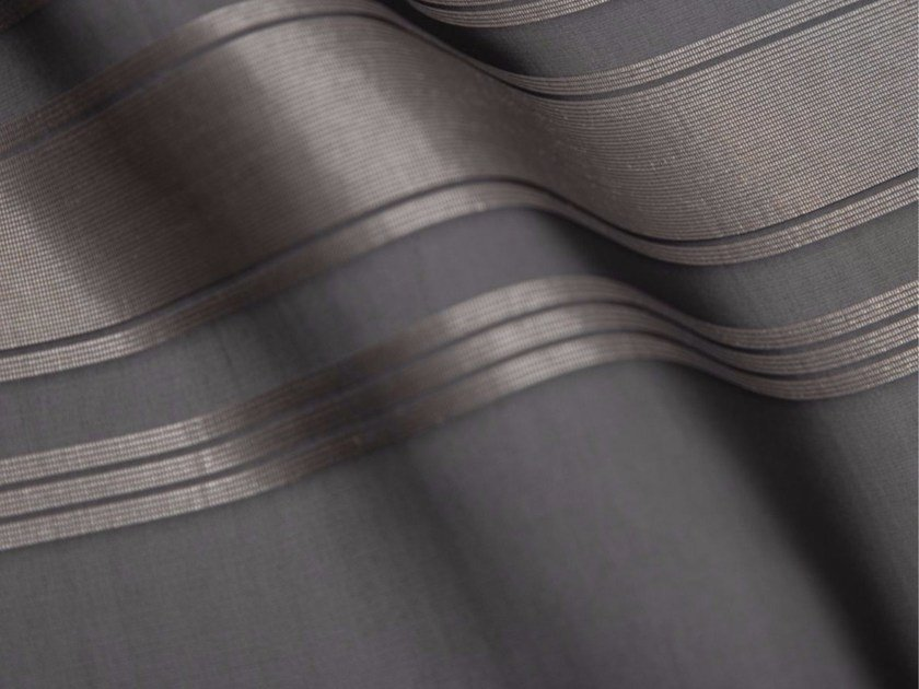 Striped synthetic fibre fabric for curtains GINZA by Gancedo