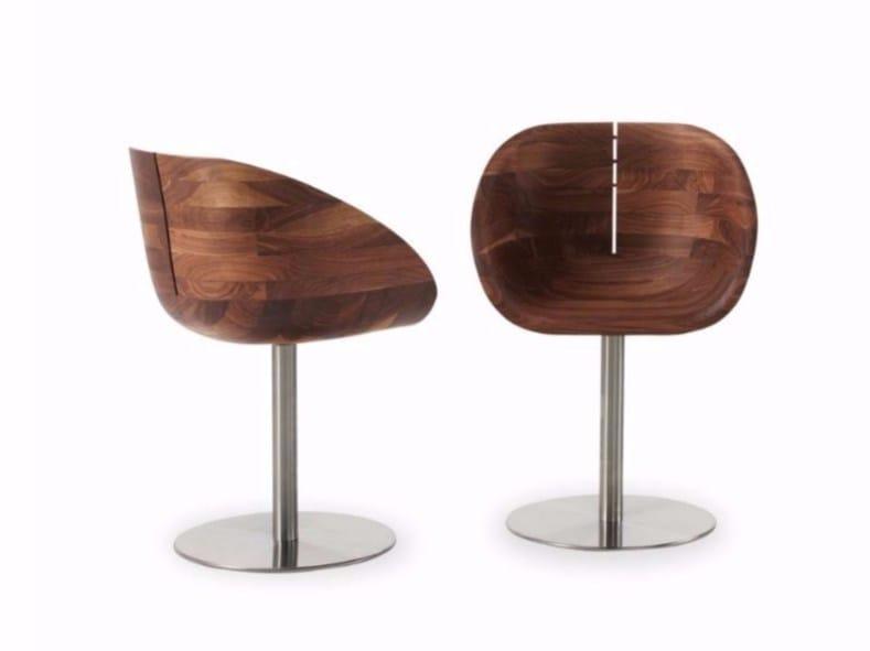 Swivel wooden chair GIOCONDA by Riva 1920
