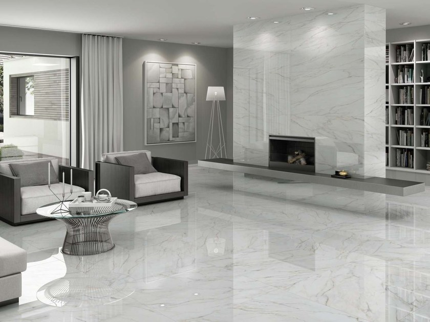 Flooring with marble effect gioia by museum for Carrelage 60x120