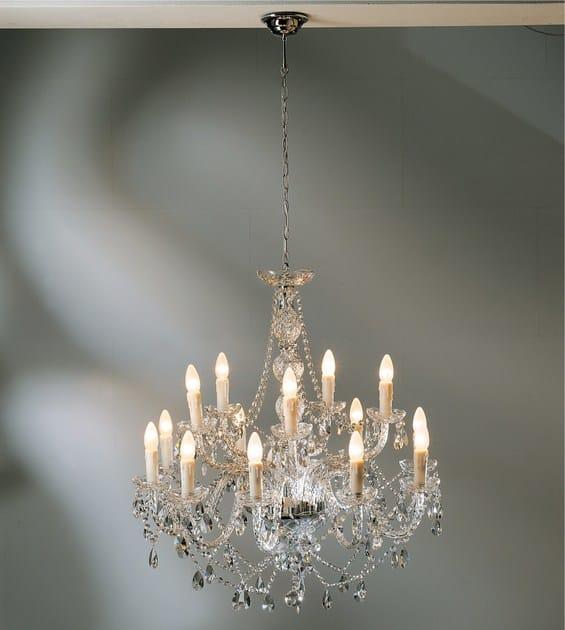 Glass chandelier GIOIELLO CRYSTAL CLEAR 14 - KARE-DESIGN
