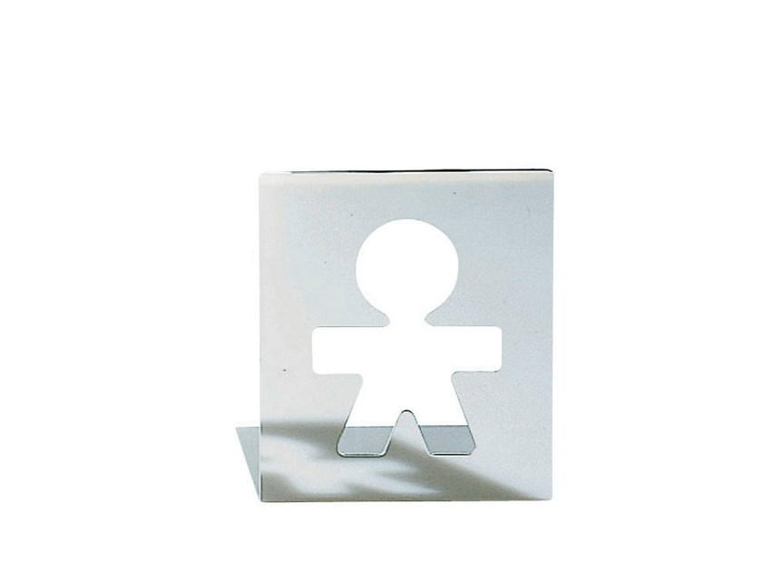 Stainless steel bookend GIROTONDO | Bookend - ALESSI