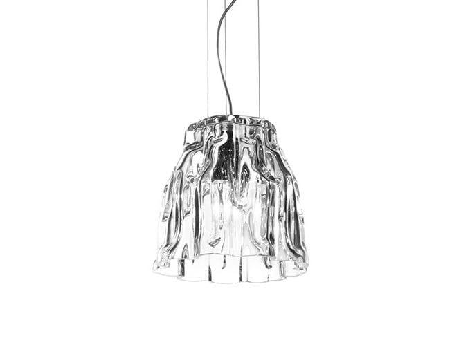 Blown glass pendant lamp GLACIER 20 - Produzione Privata