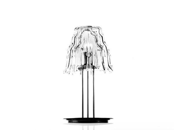 Blown glass table lamp GLACIER STELO 20 - Produzione Privata