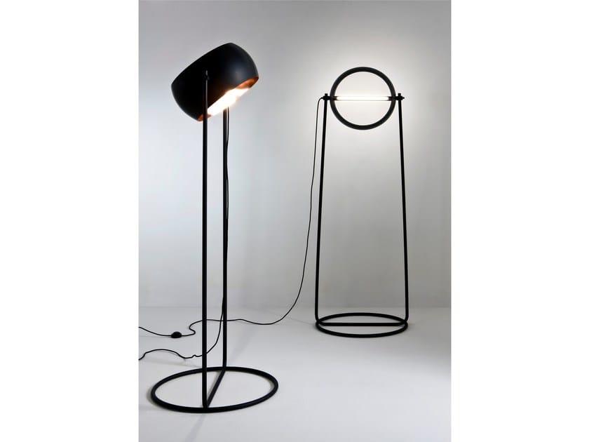 LED adjustable floor lamp GLOBE by Laurameroni