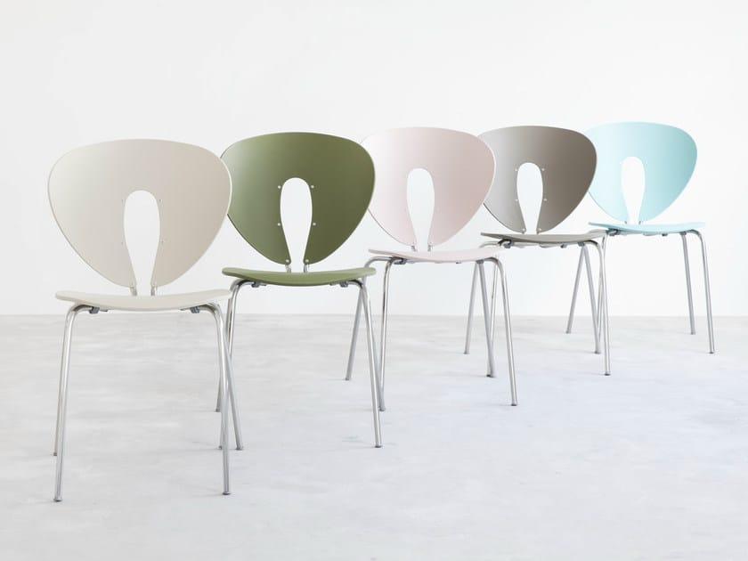 Stackable polypropylene chair GLOBUS | Polypropylene chair by STUA