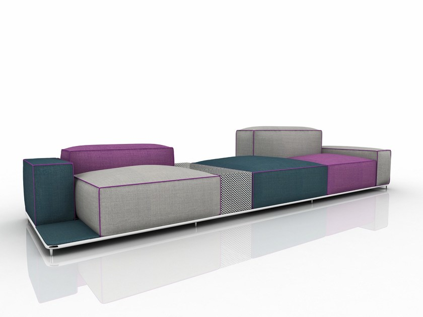 Fabric garden sofa with removable cover GLOW - Nube Italia