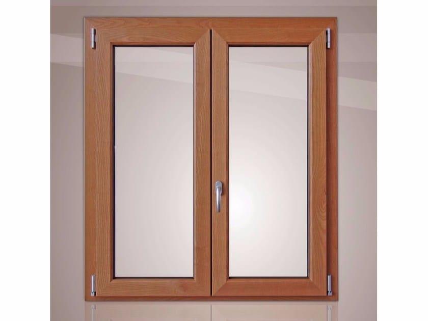 Aluminium and wood thermal break window GOLD EVOLUTION CLASSIC 45° TT650 | Top-hung window - Cos.Met. F.lli Rubolino