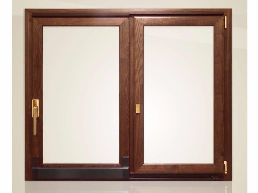 Aluminium and wood sliding window GOLD EVOLUTION CLASSIC 90° TT650 | Sliding window - Cos.Met. F.lli Rubolino