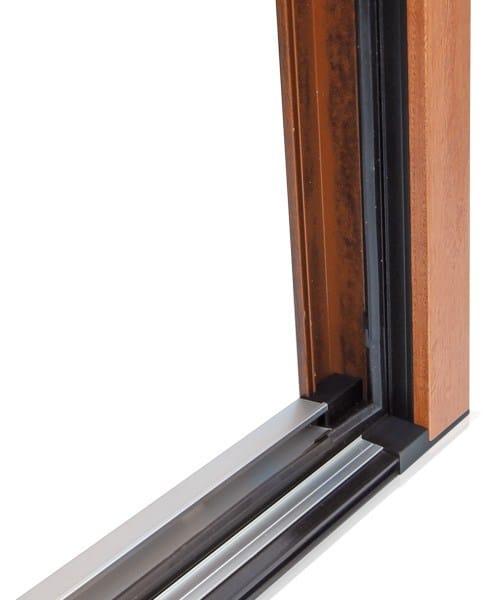 Porta finestra a battente in alluminio e legno gold evolution tt650 porta finestra cos met - Finestra mobile cos e ...