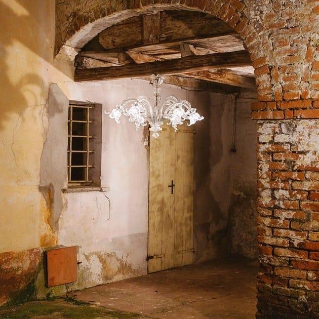 Classic style handmade glass chandelier GOLDEN CENTURY 86 | Venetian style chandelier by MULTIFORME
