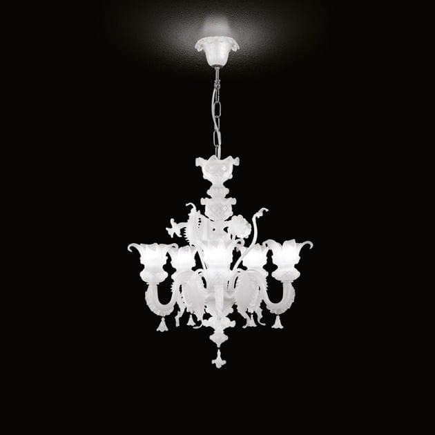Classic style handmade glass chandelier GOLDEN CENTURY 87 | Venetian style chandelier - MULTIFORME