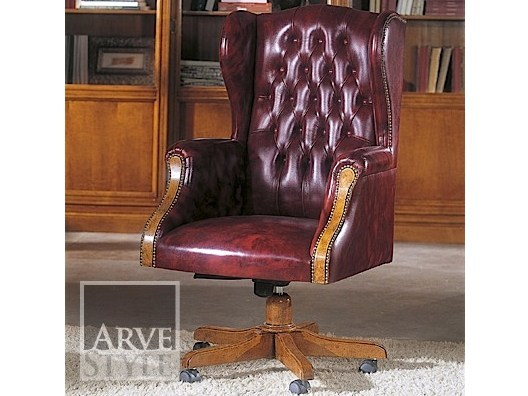 Executive chair with 5-spoke base with armrests GONZAGA | Executive chair - Arvestyle