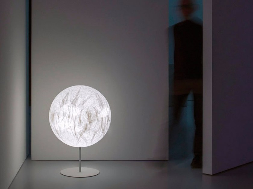 Halogen japanese paper floor lamp with dimmer GOODMORNINGCHINA - DAVIDE GROPPI