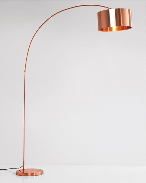 Contemporary style arc lamp GOOSENECK COPPER - KARE-DESIGN