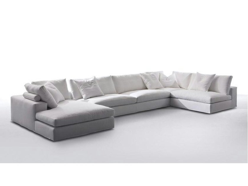 Sectional fabric sofa with chaise longue GORDON | Sofa with chaise longue - Marac