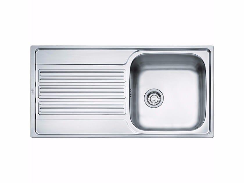Lavello a una vasca da incasso in acciaio inox con sgocciolatoio GOX 611 - FRANKE