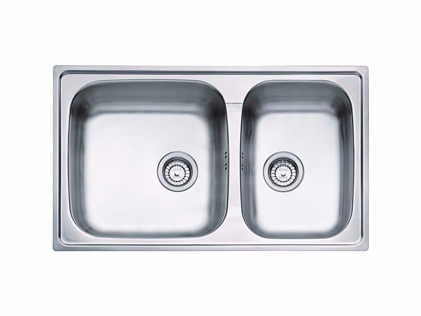 Lavello a una vasca e mezzo da incasso in acciaio inox GOX 620 by FRANKE